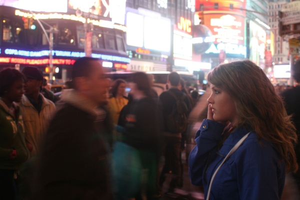 Student in Time Square